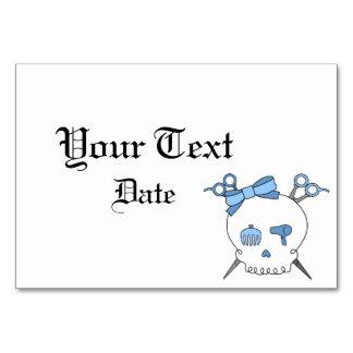 Hair Accessory Skull Scissor Crossbones Blue Table Card