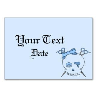 Hair Accessory Skull Scissor Crossbones Blue Table Cards