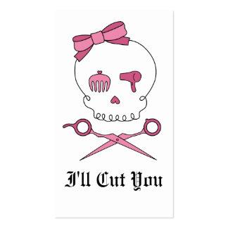 Hair Accessory Skull & Scissor Crossbones Business Card