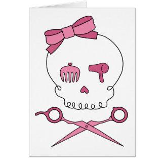 Hair Accessory Skull Scissor Crossbones Card