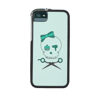 Hair Accessory Skull & Scissor Crossbones (Green) iPhone 5 Covers