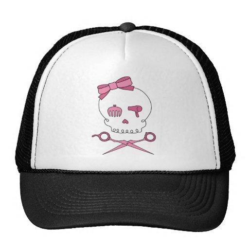 Hair Accessory Skull & Scissor Crossbones Trucker Hat