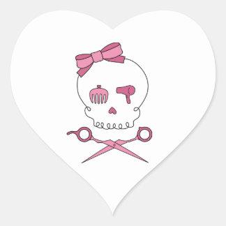 Hair Accessory Skull & Scissor Crossbones Heart Sticker