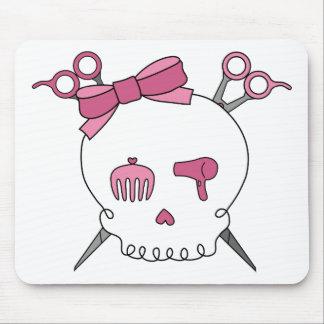 Hair Accessory Skull (Scissor Crossbones) Mouse Pad