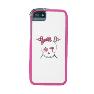 Hair Accessory Skull (Scissor Crossbones Pink) iPhone 5 Covers