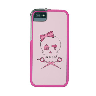 Hair Accessory Skull & Scissor Crossbones (Pink) iPhone 5 Covers
