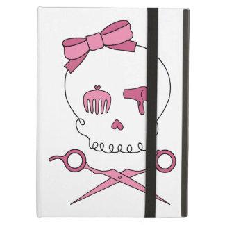 Hair Accessory Skull Scissor Crossbones Pink iPad Cover