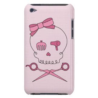 Hair Accessory Skull & Scissor Crossbones (Pink) iPod Case-Mate Case