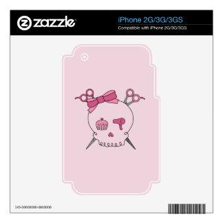 Hair Accessory Skull Scissor Crossbones Pink Skins For iPhone 2G