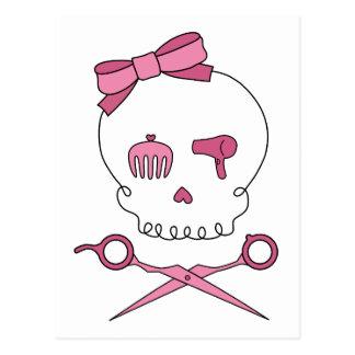 Hair Accessory Skull & Scissor Crossbones Postcard
