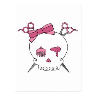 Hair Accessory Skull Scissor Crossbones Post Cards