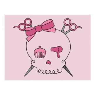 Hair Accessory Skull Scissor Crossbones Postcard