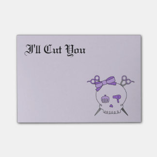 Hair Accessory Skull (Scissor Crossbones Purple 2) Post-it® Notes