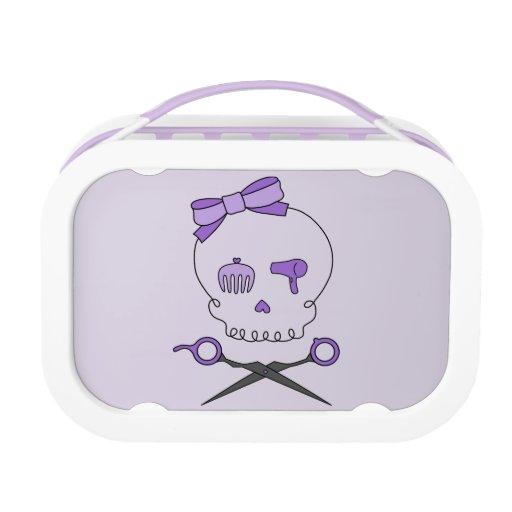 Hair Accessory Skull & Scissor Crossbones (Purple) Yubo Lunch Boxes