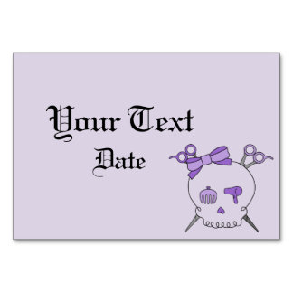 Hair Accessory Skull Scissor Crossbones Purple Table Cards