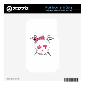 Hair Accessory Skull (Scissor Crossbones) iPod Touch 4G Decals