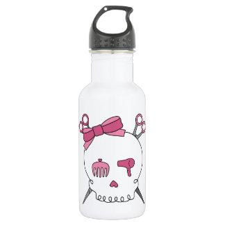 Hair Accessory Skull (Scissor Crossbones) Water Bottle
