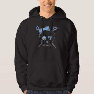 Hair Accessory Skull & Scissors (Blue) Hoodie