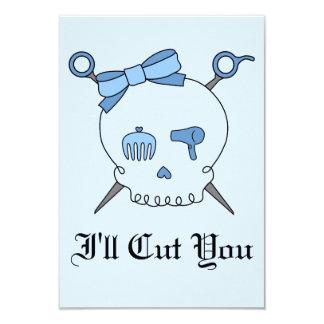 Hair Accessory Skull & Scissors (Blue Version 2) Invites