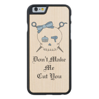 Hair Accessory Skull & Scissors (Blue Version 3) Carved® Maple iPhone 6 Slim Case