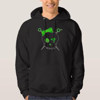 Hair Accessory Skull & Scissors (Lime Green) Hoodie