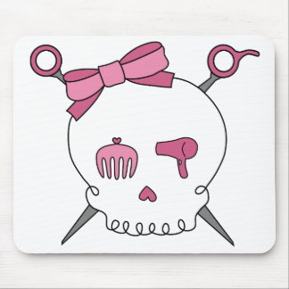 Hair Accessory Skull & Scissors Mouse Pad