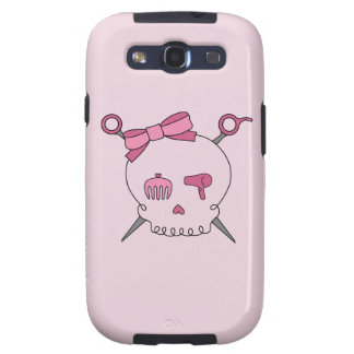 Hair Accessory Skull Scissors Pink Galaxy SIII Covers