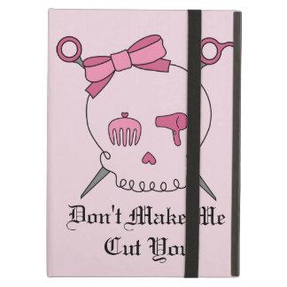 Hair Accessory Skull & Scissors (Pink) iPad Air Case