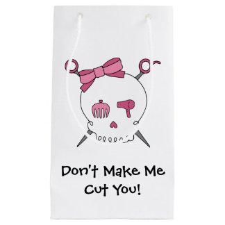 Hair Accessory Skull & Scissors (Pink Version 3) Small Gift Bag