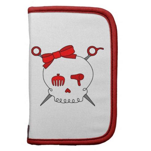 Hair Accessory Skull & Scissors (Red) Folio Planner