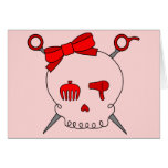 Hair Accessory Skull & Scissors (Red Version 2) Cards