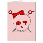 Hair Accessory Skull & Scissors (Red Version 2) Card
