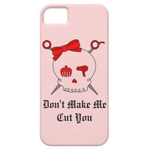 Hair Accessory Skull & Scissors (Red Version 2) iPhone 5 Cover
