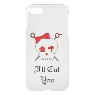 Hair Accessory Skull & Scissors (Red Version 5) iPhone 7 Case
