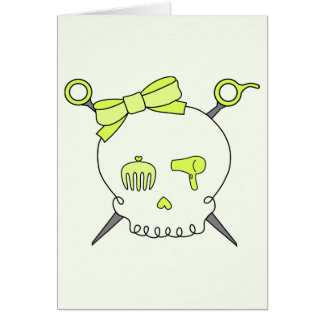 Hair Accessory Skull & Scissors (Yellow Version 2) Card