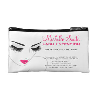 Hair and beauty Lash Extension company branding Makeup Bag