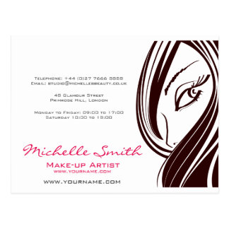 Hair and beauty Lash Extension company branding Postcard