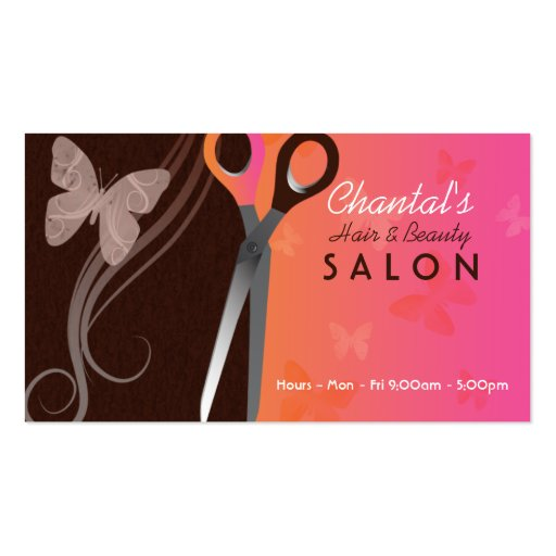 Hair and beauty salon business cards zazzle for Hair and makeup business cards