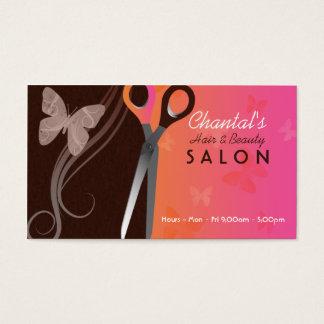 Hair and beauty salon business cards