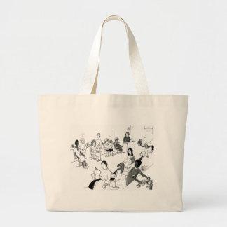 Hair and Beauty Stylist Customers Jumbo Tote Bag