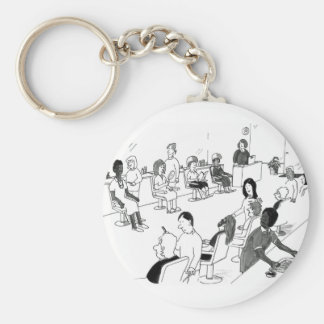 Hair and Beauty Stylist Customers Key Chain