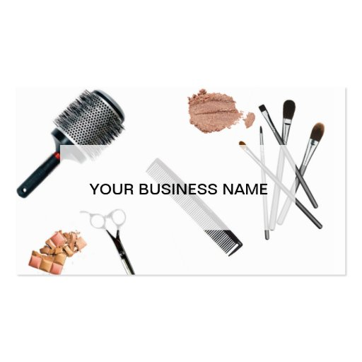 Hair and makeup artist double sided standard business for Hair and makeup business cards