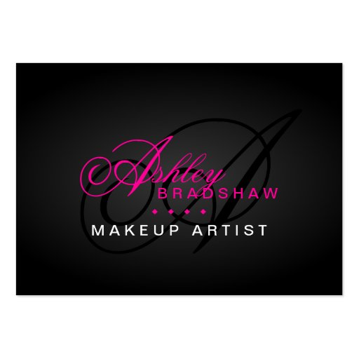 Hair and makeup artist monogram business cards zazzle for Hair and makeup business cards