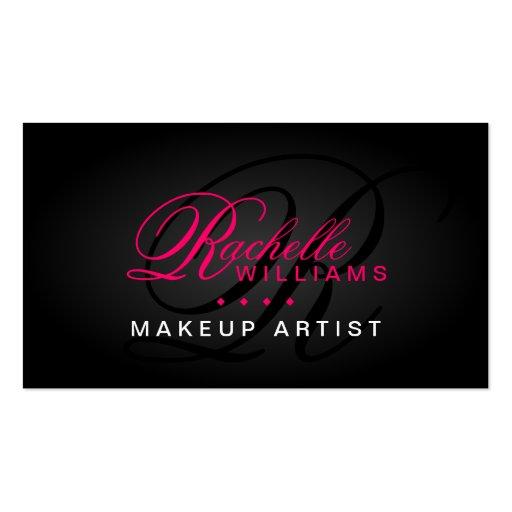 Hair and Makeup Artist Monogram Business Cards Business Card Templates