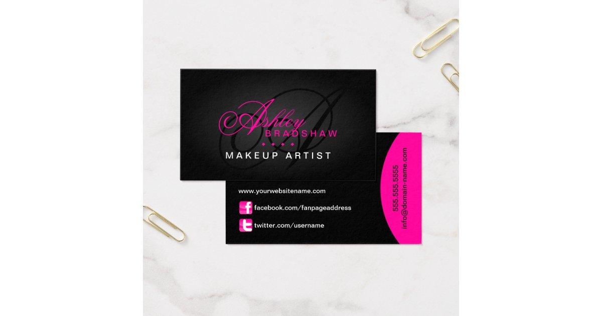Hair And Makeup Business Cards | vizitmir.com