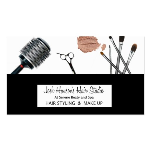 Hair and makeup business card zazzle for Hair and makeup business cards