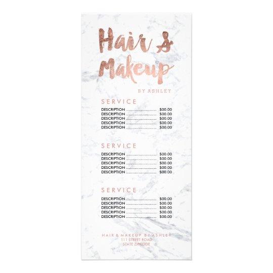 Wedding Hairstyle Price List: Floral Hair Stylist Modern Beauty Salon Price List Rack