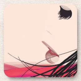 Hair and Makeup Lady Beverage Coaster