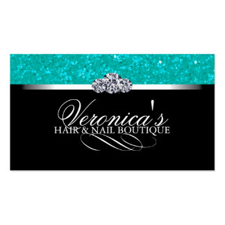 Hair and Nail Salon Glitter Business Cards Pack Of Standard Business Cards