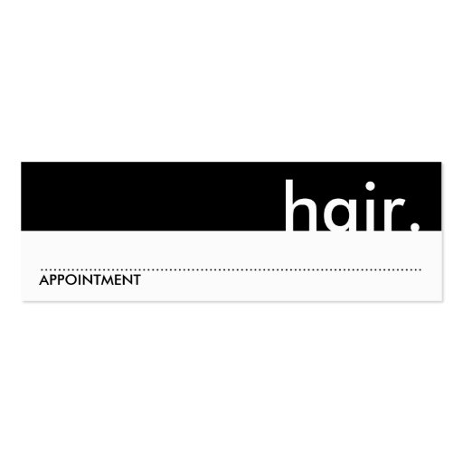 hair. (appointment card) business card template